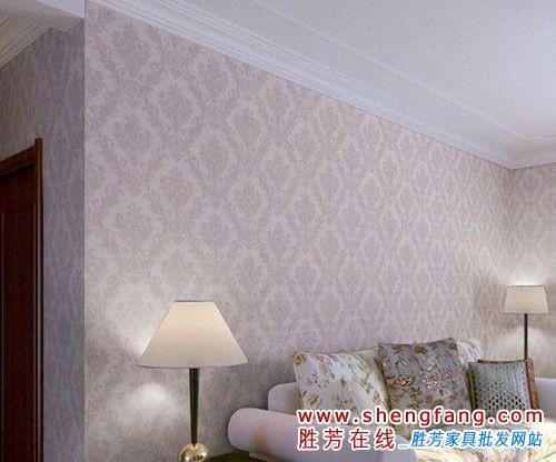 简欧墙壁纸图片:卧室满铺简欧风格,电视沙发背景,现代简约风格壁纸.