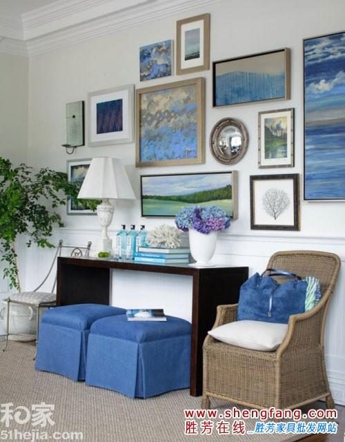 欧式地中海风格客厅欣赏,家装效果,家具资讯,胜芳在线