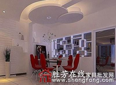 一些客厅装饰的灯光比较暗淡