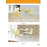 胜芳曲木桌椅 连体桌椅批发  新龙家具系列