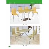 胜芳曲木桌椅 快餐桌椅批发 新龙家具系列