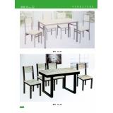 胜芳钢木餐桌   钢木餐桌批发  新龙家具系列