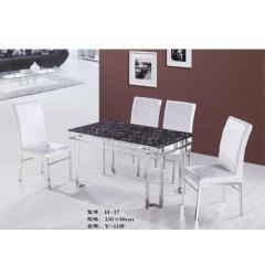 H-17_胜芳不锈钢餐桌批发_胜芳不锈钢火锅桌 胜芳佰兴宏业