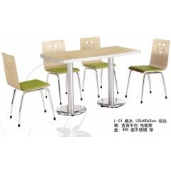 厂家供应曲木桌椅快餐桌椅饭店椅子食堂桌椅麦当劳椅