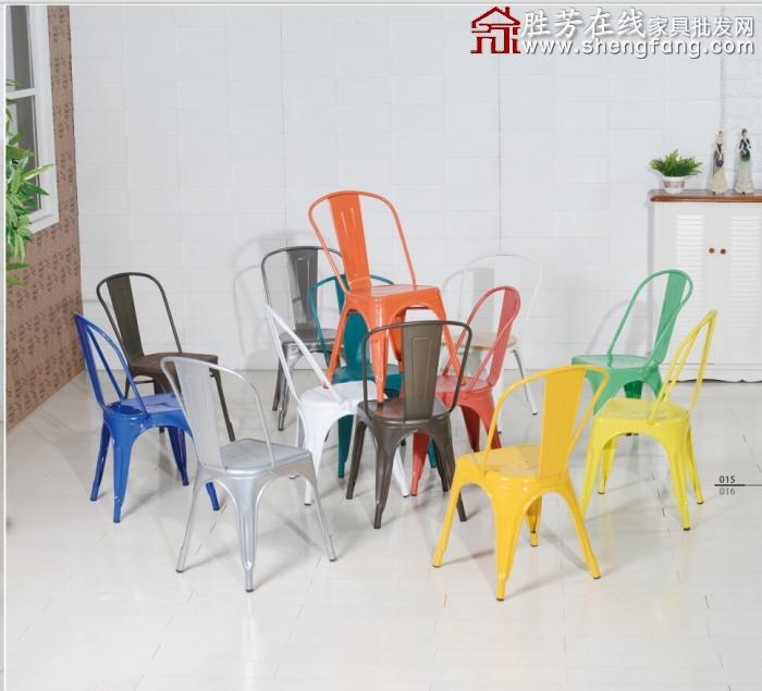欧式金属椅 铁皮椅 复古工业椅