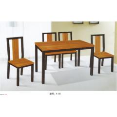 优乐娱乐快餐桌椅  钢木餐桌优乐娱乐   鸿鹏家具