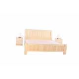 A-09胜芳双人床 实木双人床 板床 木质床批发 柏丽达家具厂 卧室家具