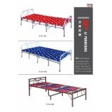 胜芳单人床 板床 木质床 简易床                                       卧室家具批发   宇利家具