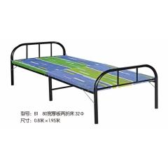 B1 80宽厚板两折床 32Φ 优乐娱乐折叠床 简易床 午休床 两折床  陪护床 铁艺床优乐娱乐 康达床业 卧室家具