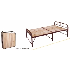 B2 杉木两折床 优乐娱乐折叠床 简易床 午休床 两折床  陪护床 铁艺床优乐娱乐 康达床业 卧室家具