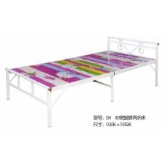 B4 80宽蝴蝶两折床 优乐娱乐折叠床 简易床 午休床 两折床  陪护床 铁艺床优乐娱乐 康达床业 卧室家具