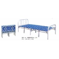 A14 15条腿四折床38Φ、32Φ 优乐娱乐折叠床 简易床 午休床 四折床 单人床 陪护床 铁艺床 单人床优乐娱乐 康达床业 卧室家具