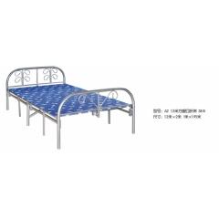 A2 1.2米方腿四折床 38Φ 优乐娱乐折叠床 简易床 午休床 四折床 单人床 陪护床 铁艺床 单人床优乐娱乐 康达床业 卧室家具