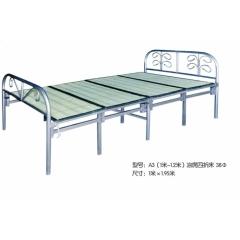 A3(1米-1.2米)凉席四折床 38Φ 优乐娱乐折叠床 简易床 午休床 四折床 单人床 陪护床 铁艺床 单人床优乐娱乐 康达床业 卧室家具