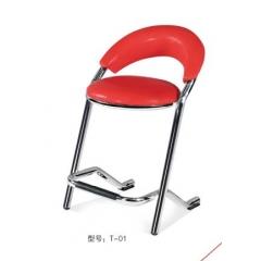 T—01 优乐娱乐酒吧椅 吧台椅 吧台凳 旋转吧台 美容椅 师傅椅 理发椅 高脚椅 升降椅 KTV前台椅 靠背酒吧椅 酒吧家具 优乐娱乐 智源家具 商业家具