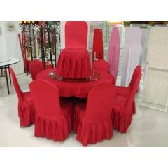 酒店桌椅桌架桌面台布酒店椅酒店椅套转盘整套酒店桌椅
