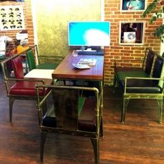 复古工业风桌椅水暖管桌椅咖啡店酒吧桌椅