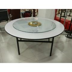酒店餐桌转盘 钢化玻璃转盘 折叠桌架 桌面