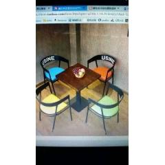 铁艺餐椅复古工业风主题餐厅桌椅个性餐椅