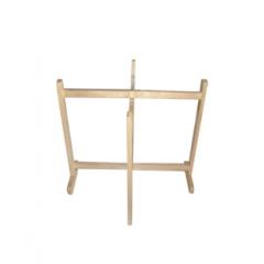 桌面实木桌面杉木桌面折叠弹簧十字架折叠桌架优乐娱乐餐桌 钢木餐桌椅 快餐桌椅铮铮家具