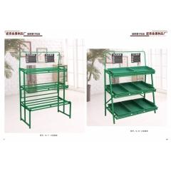 超市货架 果蔬架二层展示架不锈钢厨房置物架水果架子蔬菜架优乐娱乐