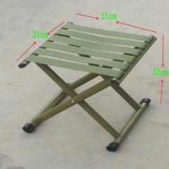 钢管军用马扎 便捷式休闲凳