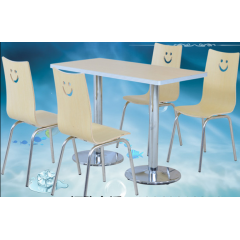 曲木椅食堂分体快餐桌椅饭店小吃店曲木快餐桌椅