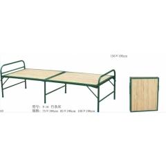 优乐娱乐床铺 折叠床 四折床 单人床 铁床 板床 竹板床优乐娱乐 鑫越家具厂