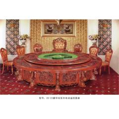 CS-23豪华纯实木电动遥控圆桌  优乐娱乐酒店桌  长松酒店家具