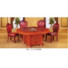 CS-36手动圆桌  优乐娱乐酒店桌  长松酒店家具