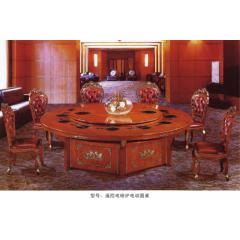 遥控电磁炉电动圆桌  优乐娱乐电磁炉桌  长松酒店家具