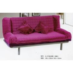 折叠沙发床 名雅家具  A-10全活面浅紫