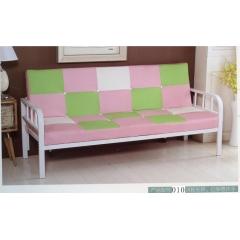 铁扶手折叠沙发床 名雅家具10 浅粉彩拼