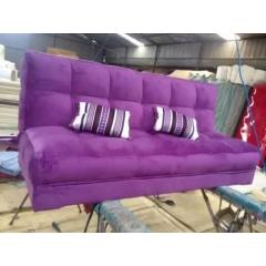 折叠沙发床 名雅家具 面包床 紫色