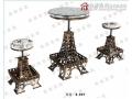 胜芳星源家具 钢木餐桌椅 牛角椅 复古家具 主题家具