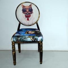 太阳椅复古做旧餐椅连锁餐厅椅子个性餐椅梦露美女椅子咖啡厅餐椅酒吧椅主题餐厅桌椅家具