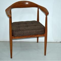 星威美式餐椅实木椅子肯尼迪总统椅北欧餐厅椅真皮圈椅电脑椅座椅铁艺仿实木餐椅复古做旧椅子