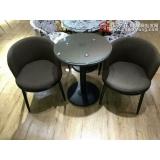 咖啡桌椅咖啡台接待桌椅洽谈桌椅布艺皮革软包椅定做