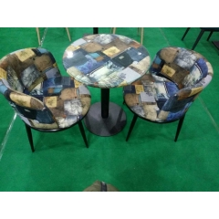 咖啡台咖啡桌椅组合茶桌椅组合三件套会客桌椅接待桌椅洽谈桌椅简约现代优乐娱乐景祥家具