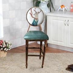 定制高台凳酒吧椅太阳椅复古做旧餐椅主题餐厅椅子高吧椅个性餐椅优乐娱乐景祥家具