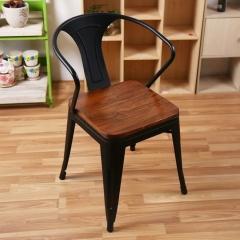 实木铁皮餐椅个性餐椅主题餐厅餐椅酒吧椅咖啡厅桌椅优乐娱乐景祥家具