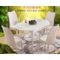 餐桌实木餐桌椅组合可伸缩折叠饭桌圆桌子跳台家用餐桌小户型 (5)