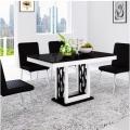 钢化玻璃餐桌椅组合 小户型简约现代 一桌四椅 一桌六椅组合 (7)