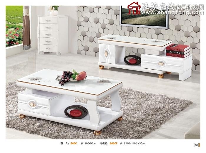 胜芳茶几电视柜组合 板式茶几电视柜 抽屉茶几电视柜 客厅家具 欧式