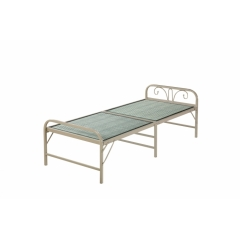 型号:凉席床 优乐娱乐优乐娱乐折叠床 简易床 午休床 两折床 单人床 陪护床 铁艺床 单人床 卧室家具 欧博瑞家具