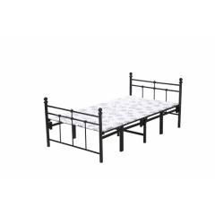 型号:s-03黑四折 优乐娱乐优乐娱乐折叠床 简易床 午休床 两折床 单人床 陪护床 铁艺床 单人床 卧室家具 欧博瑞家具
