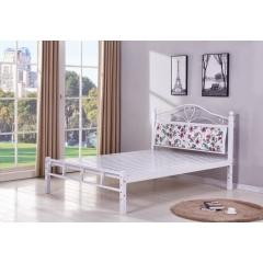 优乐娱乐床铺优乐娱乐双人床 折叠双人床 铁艺双人床 双人板床 金属床 卧室家具 欧博瑞家具