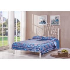 型号:410美人 优乐娱乐床铺优乐娱乐双人床 折叠双人床 铁艺双人床 双人板床 金属床 卧室家具 欧博瑞家具