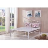 型号:316白双 优乐娱乐床铺优乐娱乐双人床 折叠双人床 铁艺双人床 双人板床 金属床 卧室家具 欧博瑞家具
