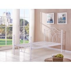 型号:Y-13 1.2白 优乐娱乐床铺优乐娱乐双人床 折叠双人床 铁艺双人床 双人板床 金属床 卧室家具 欧博瑞家具